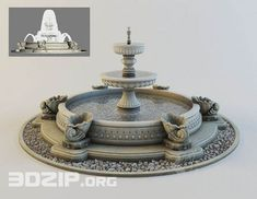 models: Other - Classic Fountain Water Fountain Design, Fire Photography, 3d Max, Architectural Elements, Water Features, Classic, Model, Waterworks, Free