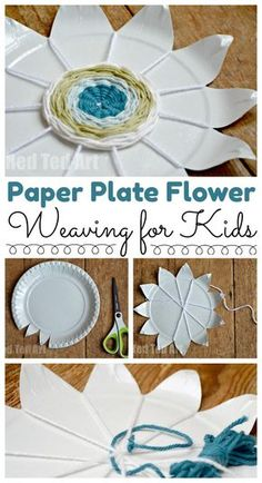 Paper Plate Weaving How To - such a gorgeous paper plate craft for kids. Turn your paper plates into weaving with this flower paper plate weaving activity. Just lovely indeed!