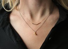 Chevron Necklace 14k Gold fill or Sterling by SketchLines on Etsy