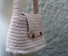 CIJ SALE Bag Crochet Pattern - Large Crochet Bag / Purse with Flap and Button Closure - Very Easy - Uk and Us Terminology Included