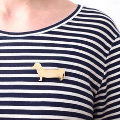 Today's prompt for #marchmeetthemaker is about work clothes. I don't have typical work clothes, as long as it's comfy and it has stripes I'm more than happy! This cute little dachshund brooch i'm wearing you can find in my Etsy shop: studiomaas