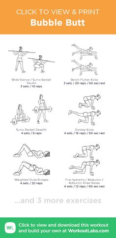 Bubble Butt Workout - Learn About These Ideas To Attain Proper Fitness Gym Workouts, At Home Workouts, Workout Exercises, Bubble Butt Workout, Barbell Deadlift, Printable Workouts, I Work Out, Sport, How To Plan