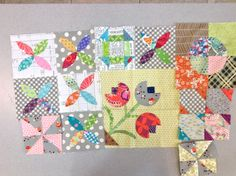 Making progress for my Green Tea and Sweet Beans quilt.