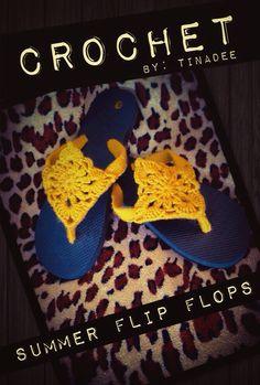 Crochet By: TinaDee Summer Flip Flops