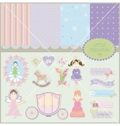 Little princess set vector by iraidak on VectorStock®