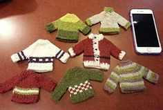 Ravelry: Mini Christmas Sweaters pattern by R Giddings