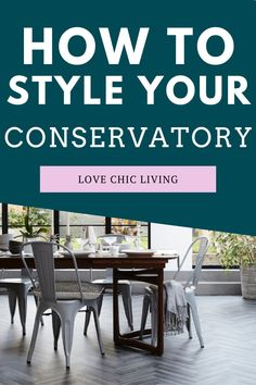 Top tips on how to decorate your conservatory all year round. Style your conservatory in a way that will want to make you use it all year round. These top tips for conservatory decor will inspire you to try something new in your extension   Modern conservatory ideas   conservatory extension ideas   conservatory makeovers Modern Conservatory, Conservatory Extension, Beautiful Space, Beautiful Homes, Sweetpea And Willow, Single Storey Extension, Diy Shutters, Best Insulation, Uk Homes