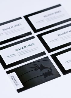 Killinchy Wines business cards. Laser-cut from old vinyl records. Designed by Studio Lost & Found – http://www.studiolostandfound.com/ Photography by Jess Shaver – http://www.jessicashaver.com/ #businesscards #design #branding