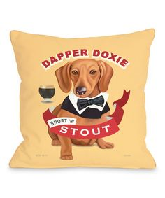 Look at this 'Dapper Doxie' Throw Pillow on #zulily today!