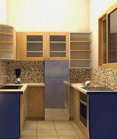 Dapur minimimalis memanfaatkan kabinet dinding sehingga memaksimalkan fungsi penyimpanan dapur untuk peralatan memasak dan makan. Wood Plans, Kitchen Cabinets, Interior, Home Decor, Restaining Kitchen Cabinets, Indoor, Homemade Home Decor, Kitchen Base Cabinets, Design Interiors
