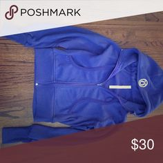 Lululemon atheltica zip up One of my favorite zip ups! a little worn but in good condition, size 8! lululemon athletica Tops Sweatshirts & Hoodies