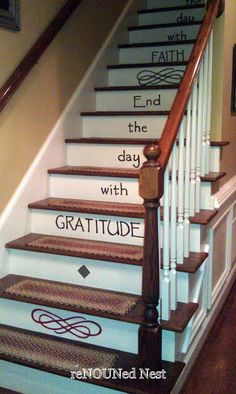 stairs <3  Start the day with FAITH * End the day with GRATITUDE