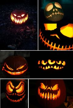 scary jack-o-lanterns!