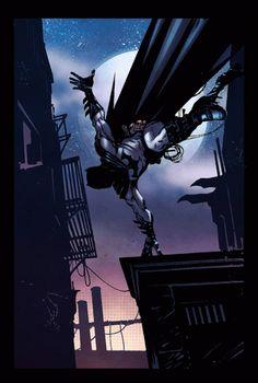 Batman Illustration by Riccardo Burchielli and Renato Guerra