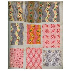 France. Swatch book of cotton fabric samples from Alsace. 1827-1830.
