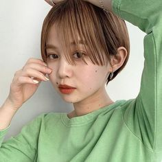 Asian Bangs, Short Cuts, Japanese Girl, Short Hair Styles, Hair Cuts, Hair Color, Hair Beauty, Hairstyle, Elegant
