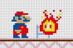 Donkey Kong Mario Pixel Art – BRIK Hama Beads Mario, Perler Beads, Nintendo Tattoo, Image Pixel Art, Cross Stitch Games, Donkey Kong, 8 Bit Art, Different Kinds Of Art, Beaded Cross Stitch