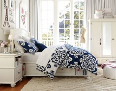 Teenage Girl Bedroom Ideas | Sophisticated Style | PBteen. So pretty, JK would love this décor.