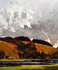 """Evening Clouds,"" by Min Ma 30 x 36 - acrylic $4630 Unframed"