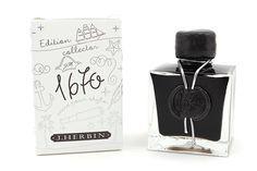 J.Herbin 1670 Anniversary Fountain Pen Ink Stormy Grey. http://www.jetpens.com/J.-Herbin-1670-Anniversary-Fountain-Pen-Ink-50-ml-Bottle-Stormy-Grey/pd/13152