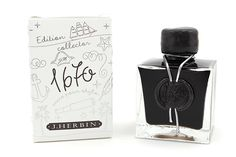 J.Herbin 1670 Anniversary Fountain Pen Ink Stormy Grey. http://www.jetpens.com/J.-Herbin-1670-Anniversary-Fountain-Pen-Ink-50-ml-Bottle-Stormy-Grey/pd/13152