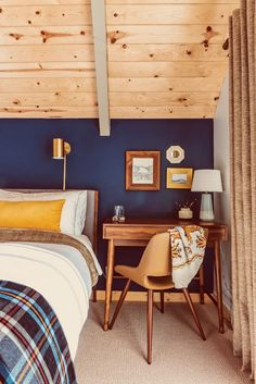Before and After: An Unloved A-Frame Turned Retro-Inspired Retreat | Apartment Therapy