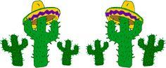 cactus sombrero clip art Mexican border