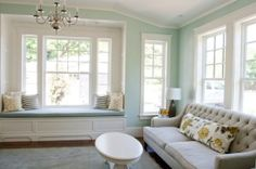 benjamin moore palladian blue is a great cool colour for a south facing or southern exposure room. great for bedroom!