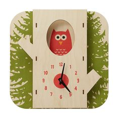 Tree Owl Clock