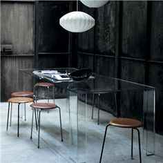 Glas Italia Aria Rectangular Glass Dining Table - Style # TIA01, Modern and contemporary dining tables at SWITCHmodern.com