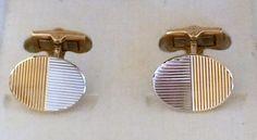 750 Gold Manschettenknöpfe Oval Bicolor. Massiv
