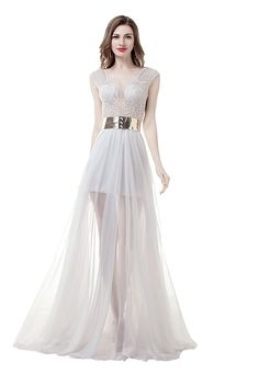 Anna's Bridal Women's Beaded Split Beach Wedding Dresses for Bride 2017 Bridal Gowns US12. Dear Customer,Welcome to Anna's Bridal!Be a happy purchasing jouney:). Please refer to OUR US Size Chart on the left. If you have any doubts about your size, please free to contact us. The fabric is Tulle with light, breathable and straight features. Dry clean or Hand wash. Can be used as Bridesmaid Dress, Wedding Dress, Evening Dress, Prom Dress, Party Dress and other various occasions.All you need…