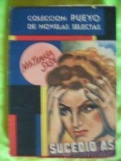 coleccion pueyo de novelas selectas SUCEDIO ASI MARIA TERESA SESE