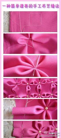 漂亮的手工布艺缝法 (hahahaha hier komt ie vandaan!) Leuke bloemetjes in de stof en vrij simpel!!!
