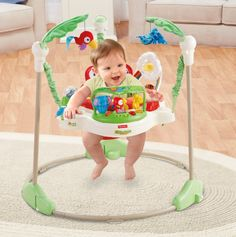 Baby Jumper Toy Fisher Price Rainforest Jumperoo Fun Bouncer New Fisher Price Rainforest, Baby Exersaucer, Baby Activity Jumper, Princesa Sophia, Education And Development, Physical Development, Baby Bouncer, Thing 1, Gifts For New Parents
