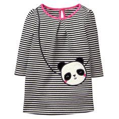 Baby Black Stripe Panda Purse Dress by Gymboree