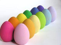 Peindre mes oeufs en bois pour Pâques
