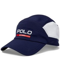 bfc983bb88d Mesh panels at the sides add to the breathability of this Ralph Lauren  baseball cap