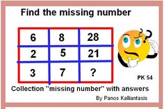 Can you manage this puzzle find the missing number? Missing Number, Maths Puzzles, Mind Tricks, Math Skills, Improve Yourself, Numbers, Mindfulness, This Or That Questions, Collection