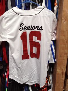 Order custom jerseys for your senior class! - Senior Shirts - Ideas of Senior Shirts - Order custom jerseys for your senior class! Crafts For Seniors, Senior Crafts, Softball Jerseys, Basketball, Senior Class Shirts, Senior Trip, Senior Year, School Spirit Shirts, College Shirts