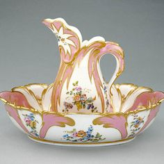 Sevres Porcelain Ewer and Basin circa 1756 from The Getty Museum