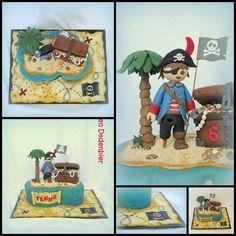 Playmobil pirate cake
