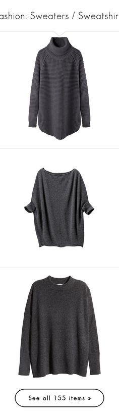 """""""Fashion: Sweaters / Sweatshirts"""" by katiasitems on Polyvore featuring tops, sweaters, shirts, jumpers, long sweaters, long shirt, oversized turtleneck sweaters, chunky oversized sweater, turtleneck sweater and blusas"""