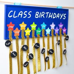 Classroom birthday tracker - crafts for teachers - classroom crafts - teacher ideas - fun classroom activities