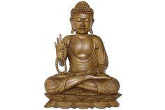 Estatua de buda en madera