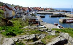 Cliffs at Gudhjem, Bornholm, Danmark.