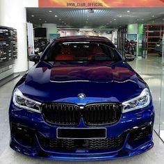 Blue beast, BMW 750 Li. (via Instagram - bmw.mpower3) #bmw #bmwm #bmwm #bmw7 #mpower #blue Bmw 750 Li, Beast, Bmw Girl, Bmw 7 Series, Power Cars, Performance Cars, Bmw E46, Car Accessories, Cool Cars