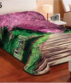 Deka na postel so vzorom prirody (1) Blanket, Furniture, Home Decor, 3d, Homemade Home Decor, Blankets, Home Furnishings, Carpet, Decoration Home