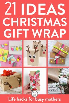 Get creative with these gorgeous ideas for Christmas gift wrapping. You may love to keep things simple with brown paper and string or you may like to get super creative with pom poms. There are some super lovely ideas in this roundup Unique Christmas Gifts, Christmas Gift Wrapping, Christmas Presents, Christmas Holidays, Christmas Crafts, Christmas Ideas, Cute Diy Gift Wrap, Creative Gift Wrapping, Wrapping Presents