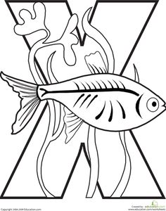 Worksheets: Letter X Coloring Page